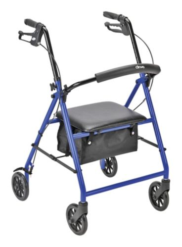 Drive Aluminum Rollator with Casters, 6-in