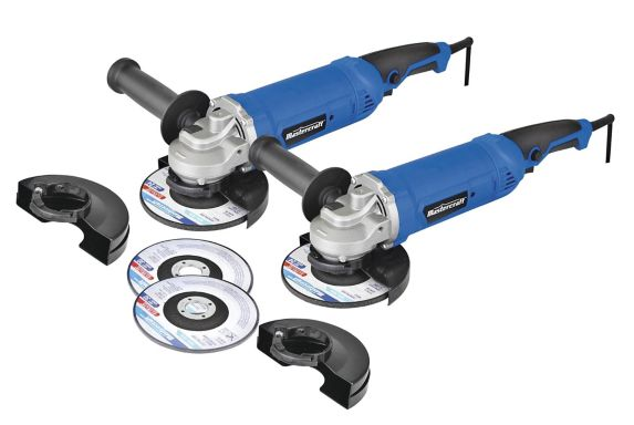 Mastercraft 9A Rat Tail Angle Grinder, 5-in, 2-pk