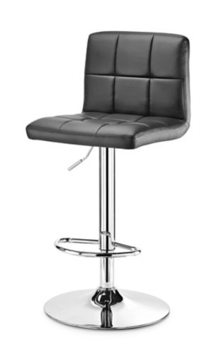 For Living Tufted Bar Stool Set, Black, 2-pc