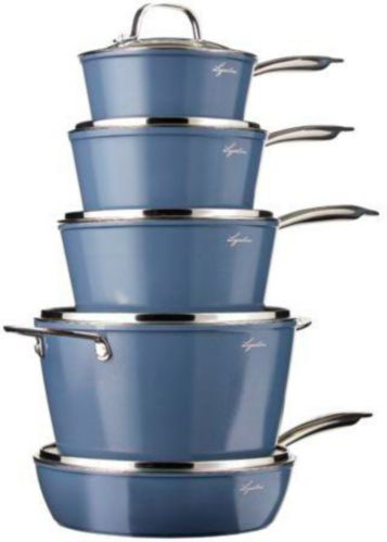 Lagostina Natura-Pro Non-Stick Cookware Set with Frypan, 11-pc Product image