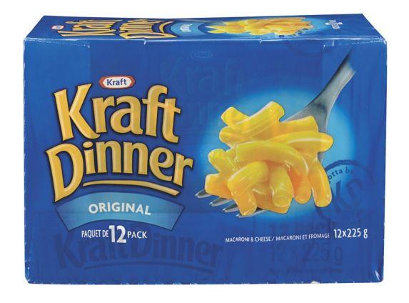 Kraft Dinner Original Macaroni & Cheese, 12-pk