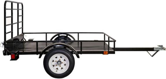 Detail K2 Mighty Open Rail Multi-Utility Trailer In A Box, 4-ft x 6-ft