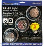 Circular 24 LED Puck Worklight, 3-pk | Chateaunull