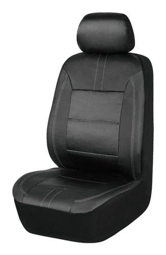 AutoTrends Junda Faux Leather Seat Covers, 2-pk
