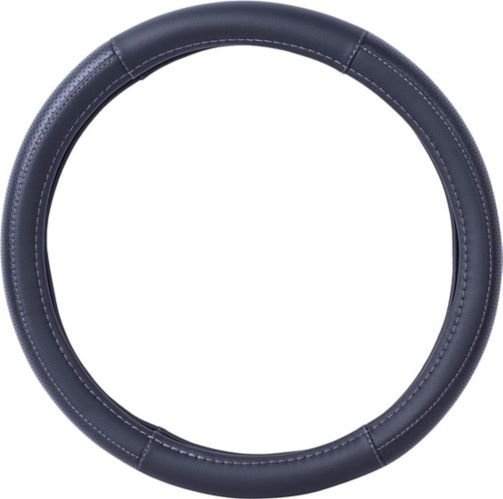 AutoTrends Junda Faux Leather Steering Wheel Cover