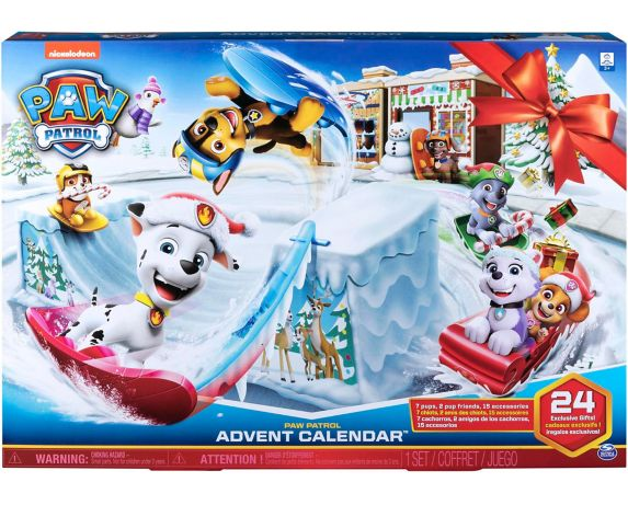 PAW Patrol Advent Calendar with Collectible Figures