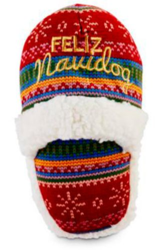 Petco Holiday Tails Slipper Dog Toy, Assorted, 9-in Product image