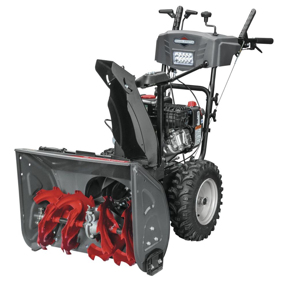 Briggs 1697157 2-Stage 208cc Gas Snowblower with Power Steering , 24-in