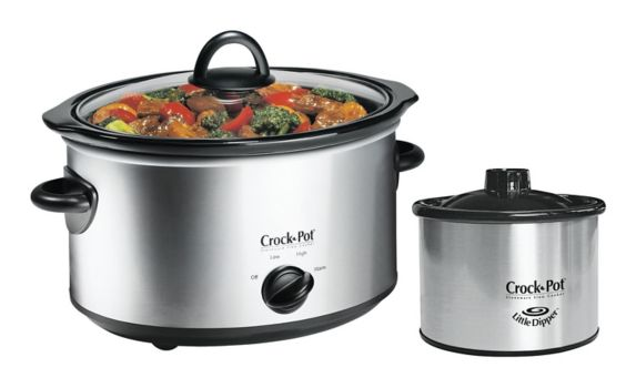 Crock-Pot® Oval Manual Slow Cooker with Little Dipper® Food Warmer, 5-qt Product image