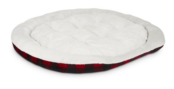 Petco Cuffed Oval Cuddler Dog Bed, 46-in x 38-in Product image