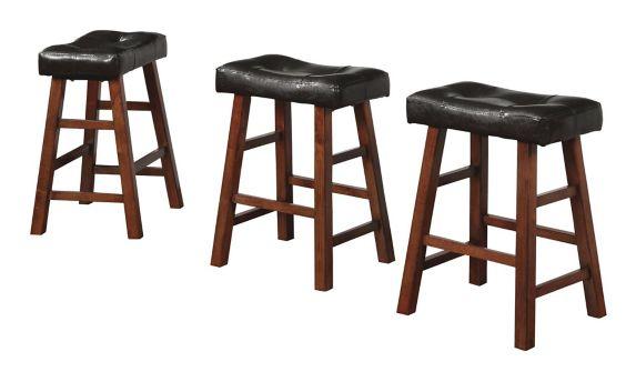 Ensemble de tabourets de bar en bois Linon Addison, 3 pces Image de l'article