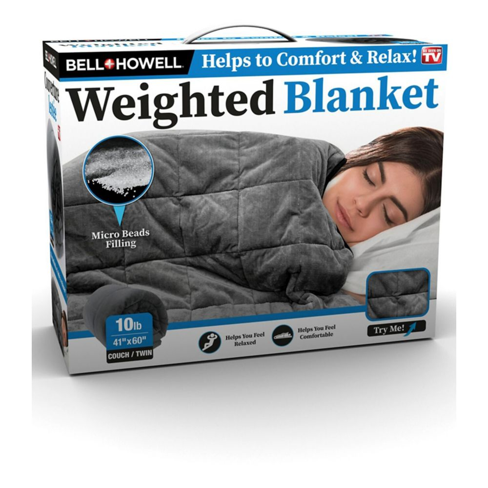 As Seen on TV Bell & Howell Weighted Blanket, Grey