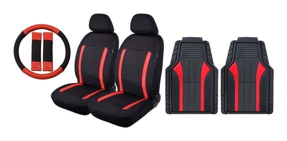 Auto Comfort Kit with Mats, Metallic Red Product image