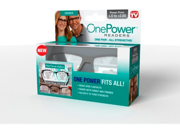 As Seen On TV One Power Readers Reading Glasses, Square Product image