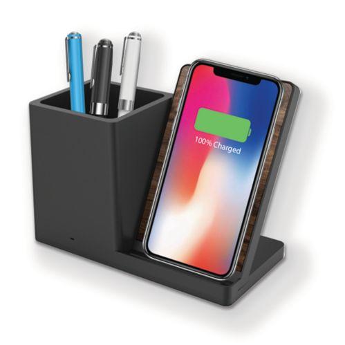 Desktop Wireless Charging Stand & Pen Holder Product image