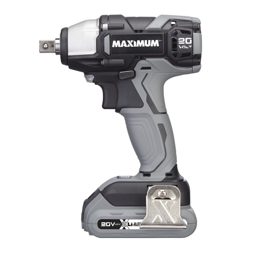 Maximum 20V 1/2-in Max Li-Ion Cordless Impact Wrench Kit
