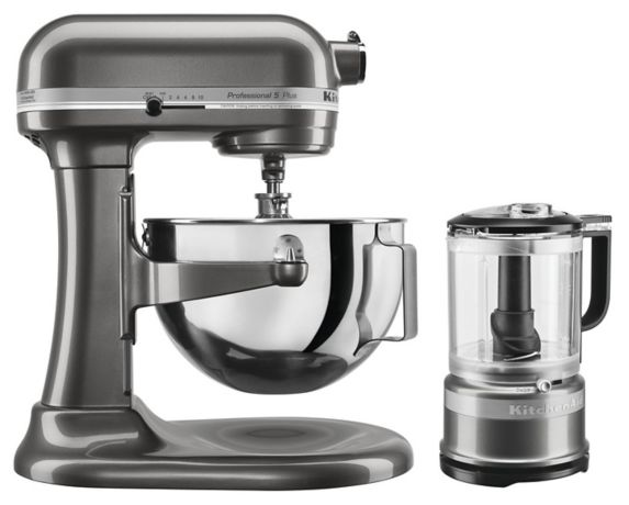 Ensemble mini hachoir KitchenAid + batteur sur socle Professional 5™ série Plus, graphite liquide
