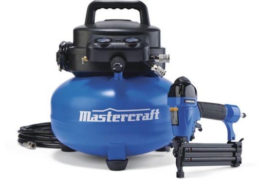 Mastercraft 6-Gallon Pancake Compressor & Brad Nailer Product image