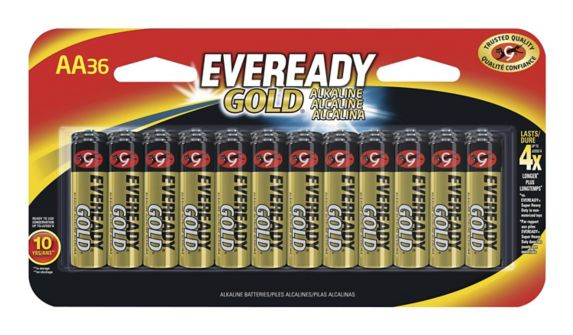 Eveready Gold AA Alkaline Batteries, 36-pk Product image