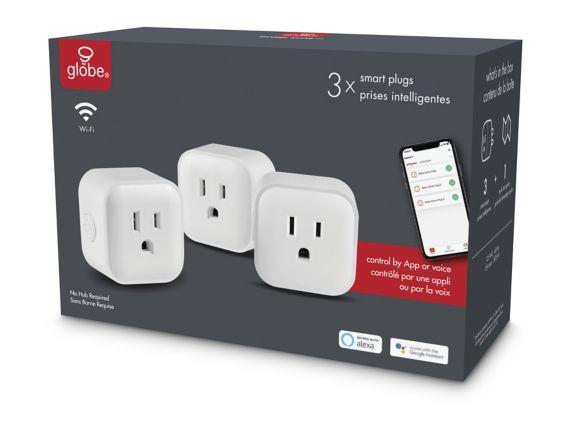 Globe 1-Outlet Smart Plug, 3-pk