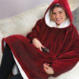 Huggle Hoodie™ Ultra Plush Blanket Hoodie, Red   As Seen On TVnull