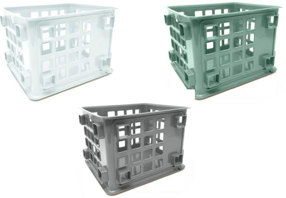 type A Mini Milk Crate, Assorted