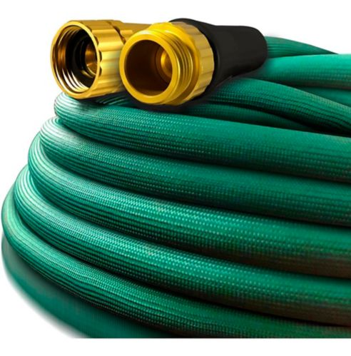 Flexon H2Zero Fabric Lawn & Garden Hose, 75-ft