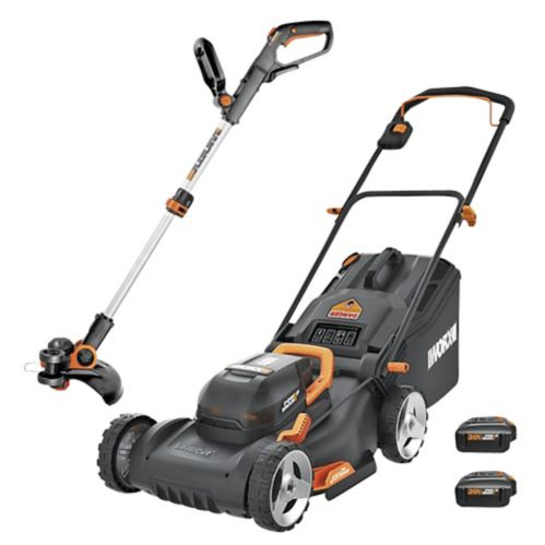 WORX PowerShare Lawn Mower & Grass Trimmer/Edger Combo Kit with 20V Batteries Product image