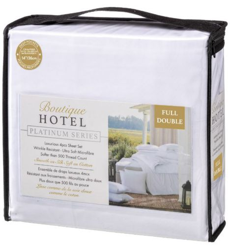 Draps 500fils luxueux série Platinum Boutique Hotel, lit 2places, 4pièces
