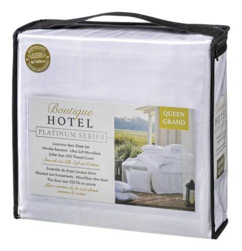 Draps 500fils luxueux série Platinum Boutique Hotel, grand lit 2places, 4pièces