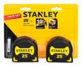 Stanley Tape Measure, 25-ft, 2-pk | Stanleynull