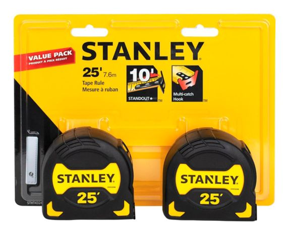 Stanley Tape Measure, 25-ft, 2-pk Product image