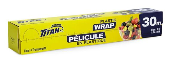 Titan Plastic Food Wrap, 25-m