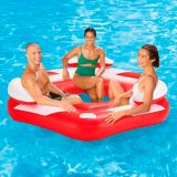 Summer Waves 3-Person Party Island, Red/White