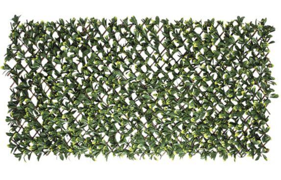 Treillis extensible avec feuilles artificielles Naturae Décor, 40 x 80 po