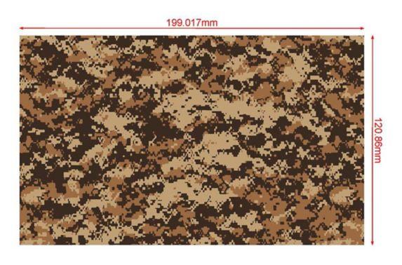 Bâche camouflage numérique certifiée, 5,9 x 8pi