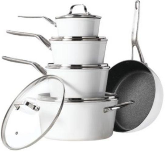 Heritage The Rock Ceramic Zero Cookware Set + Bonus Fry Pan, 10-pc