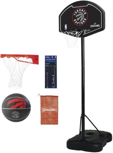 Spalding Toronto Raptors Basketball System & Accessories Bundle Kit, 32-in