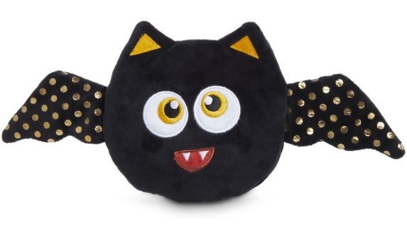 Petco Halloween Plush Bat Squeaker Dog Toy, 12-in