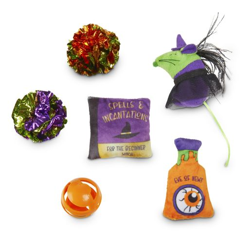 Petco Halloween Cat Witches Multi-Pack Cat Toys