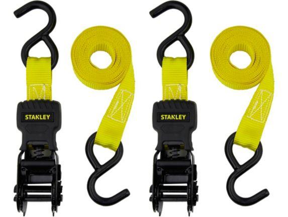 Stanley Ratchet Tie Down Straps, 2-pk