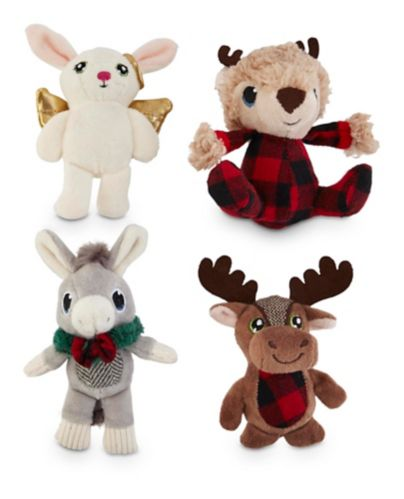 Petco Holiday Plush Character Dog Toy, Assorted, 4-in