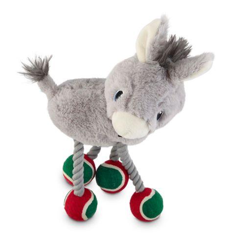 Jouet pour chiens Petco, âne des Fêtes avec jambes en balles de tennis, 12po Image de l'article