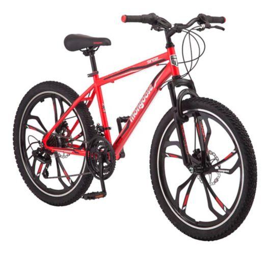 Vélo de montagne à suspension avant Mongoose Singe Hardtail, rouge, 24 po