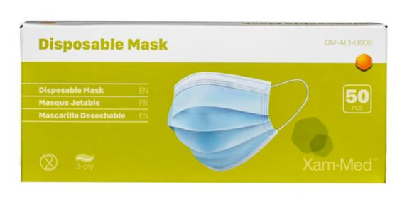 Disposable 3-Ply Non-Medical Face Mask, 50-pk Product image