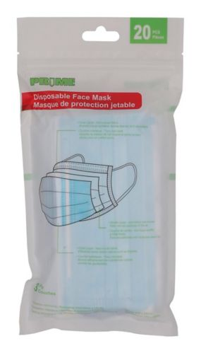 Disposable 3-Ply Non-Medical Face Mask, 20-pk