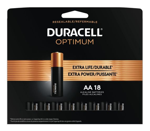 Duracell Optimum AA Batteries, 18-pk