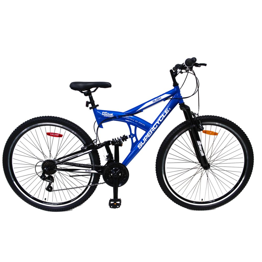 Supercycle Rush Dual Suspension Mountain Bike, 29-in