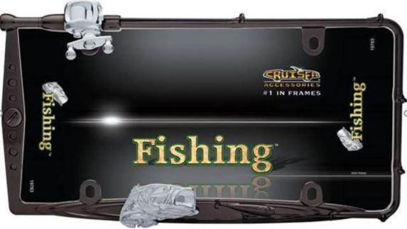 Cadre de plaque d'immatriculation de pêche