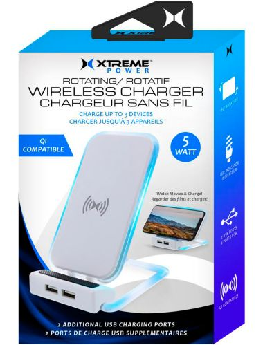 Xtreme Power Rotating Wireless Charger, White